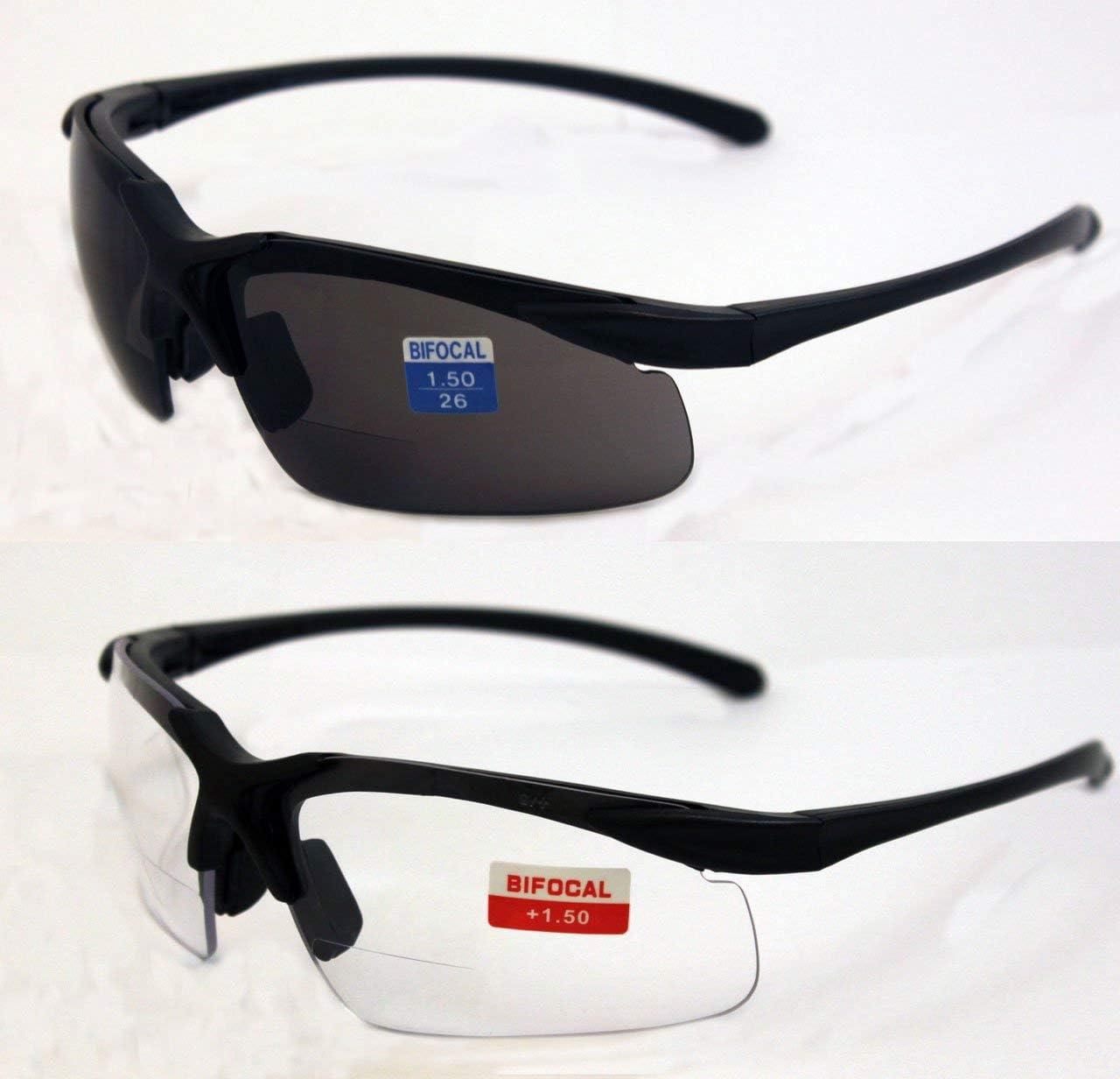 Black Frame//Smoke Lens Global Vision Apex Bifocal Safety Glasses