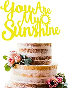 You Are My Sunshine Cake Topper, Sunshine Party Cake Decor, Sun Smile Face Sunflower My Only Sunshine Wedding Baby Shower Kid's Birthday Party Supplies Decorations