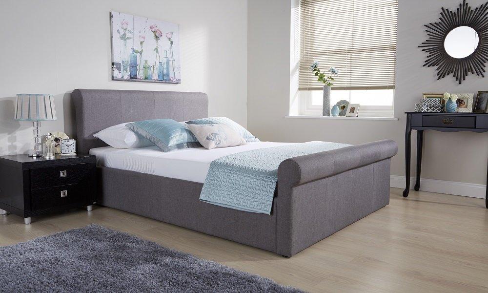 Right Deals UK Seite Lift Ottoman Schlitten Bett | Hopsack Stoff ...