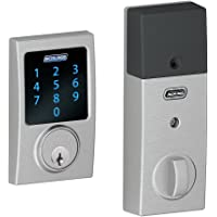 Schlage Z-Wave Connect Century Touchscreen Deadbolt with Built-in Alarm, Works with Amazon Alexa via SmartThings, Wink or Iris, Satin Chrome, BE469 CEN 626