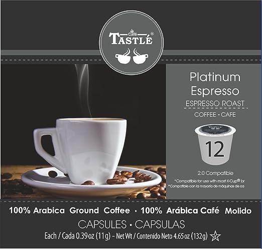 Cafe Tastlé Platinum Espresso Roast Single Serve Coffee, 24 Count: Amazon.com: Grocery & Gourmet Food