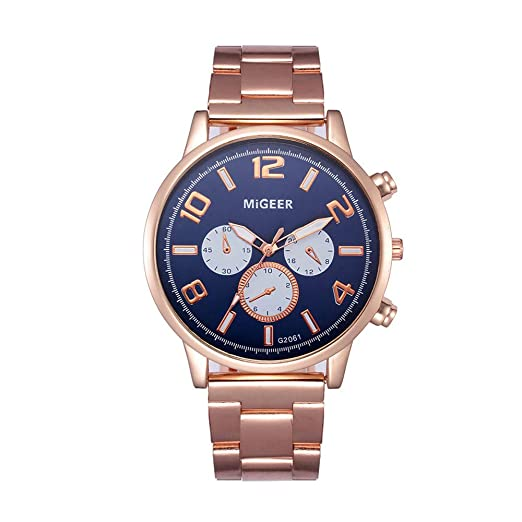 Amazon.com: Luxury Watches for Men DYTA Stainless Steel Case Strap Wrist Watch on Simple Watches Black Face Casual Analog Quartz Watches on Relojes De ...