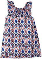 Egg by Susan Lazar Little Girls' Voile Rouched Neck Dress (Toddler/Kid) - Red Print
