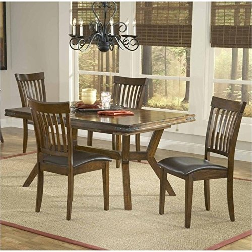 Bowery Hill 5 Piece Dining Set in Colonial Chestnut