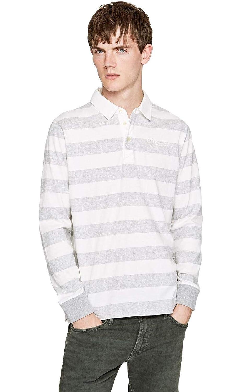 Pepe Jeans - Polo Union Hombre Color: 933 Grey Marl Talla: Size L ...