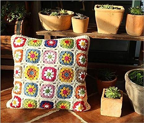 Amazon.com: Retro Daisy Handmade Woolen Crochet Dormir Manta ...