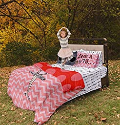 Twin Ballerina Reversible Duvet Cover Set with 1 Pillowcase for Kids Bedding - Double Brushed Microfiber by Where The Polka Dots Roam (68\