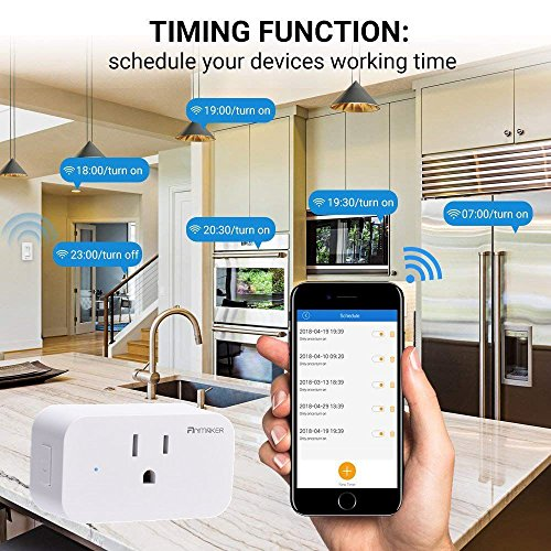 Mini Wifi Smart Plug 4 Pack - Voice Control Through Alexa and Google Assistant,Control Your Home Device from Anywhere,Supports Timing Switch,DIY Scenes,Device Sharing. by Anmaker (Image #1)