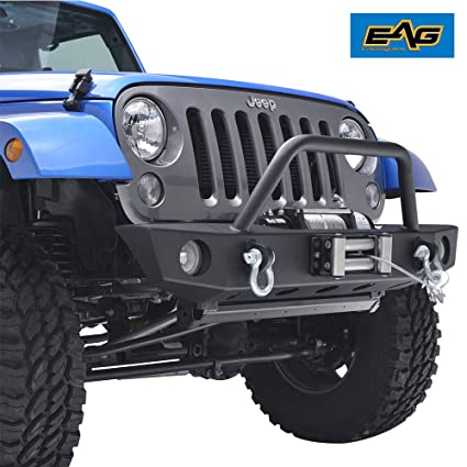 Brilliant Amazon Com Eag Front Bumper With Winch Plate And Fog Light Housing Wiring Cloud Hisonuggs Outletorg