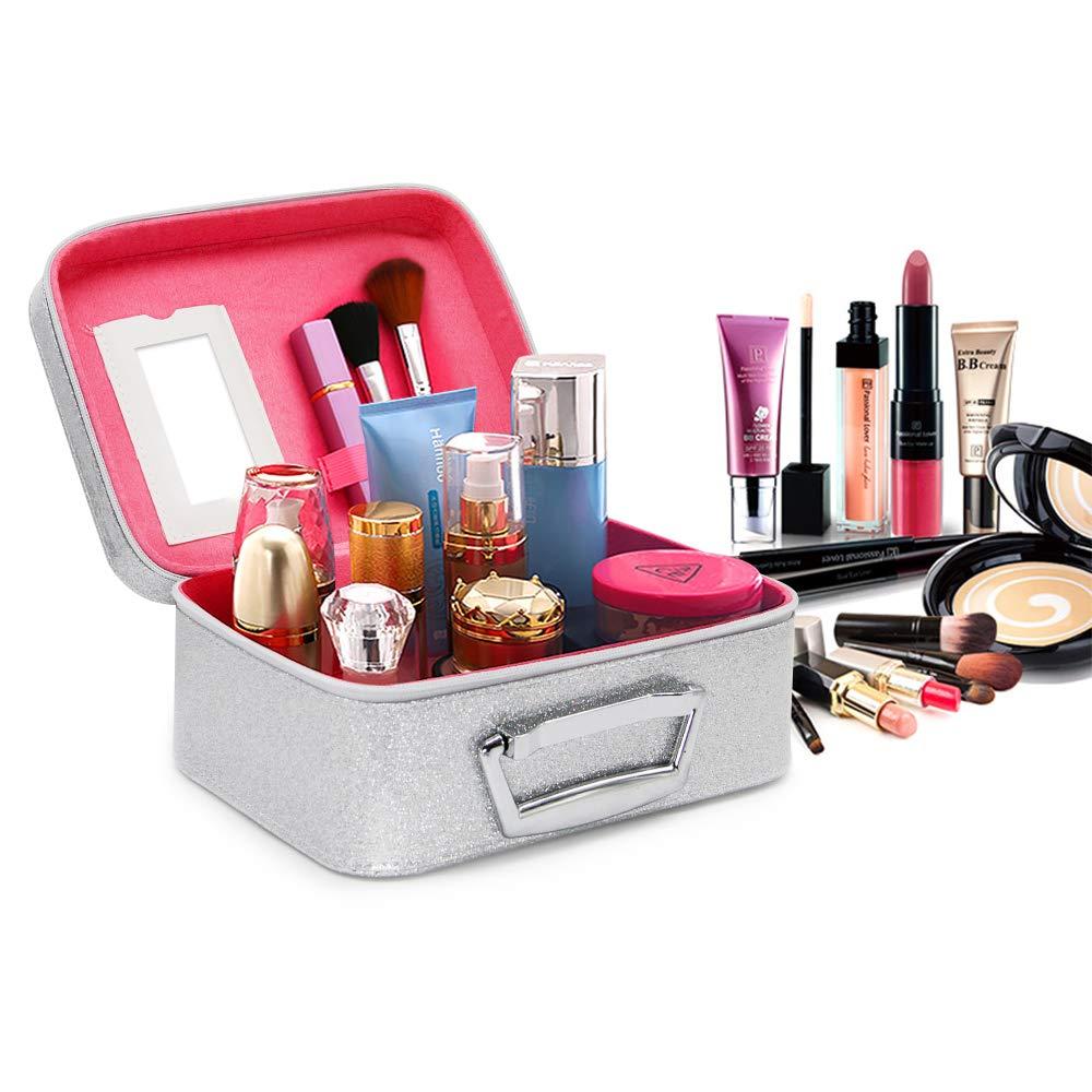 61111cbe4ed7 BEAUBOMB Makeup Cases Large Glitter Travel Makeup Case Cute Cosmetic Bag  Set Big...