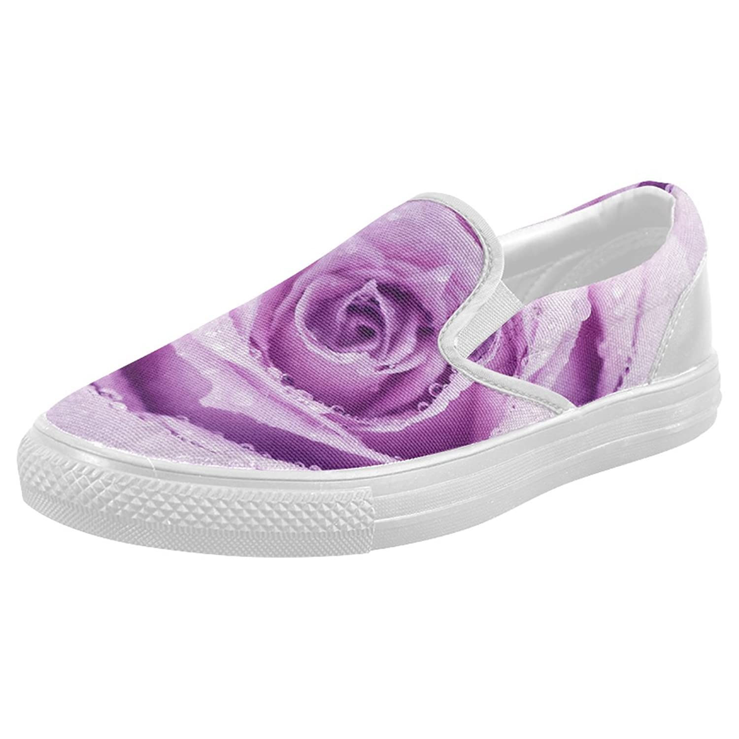 interestprint lavender casual slip on canvas s