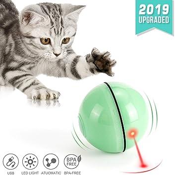 Amazon.com: WWVVPET pelota de juguete para gatos con luz LED ...