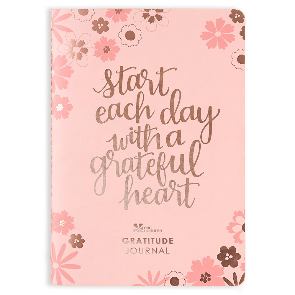 Erin Condren Petite Planner 80 Page Gratitude Paperback Journal with Stickers. Non Dated for 6 Months of Positive Memories and Recording Good Events and Favors