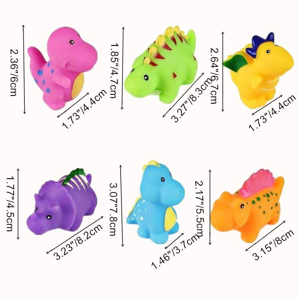 b/éb/é Jouets de Bain Jouets de Bain Flottant,Baignoire Sac Jouet b/éb/é(6 Pcs) Yojoloin Dinosaure Jouir Bain /à Jouets pour Les Enfants