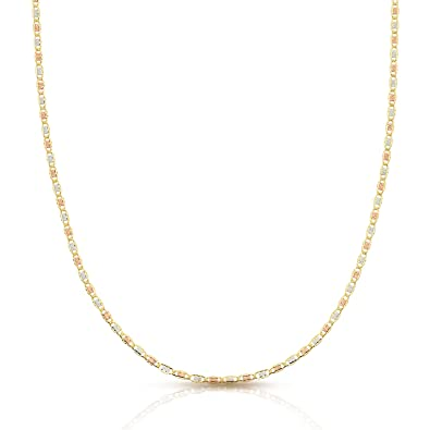 48dc19712 Jewel Connection Tri- Color 14K Valentino Chain, Rose Gold, Yellow Gold, and