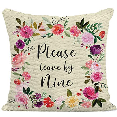Reversible Sequin Pillow Case | Mermaid Pillow Case (Please Leave by Nine)
