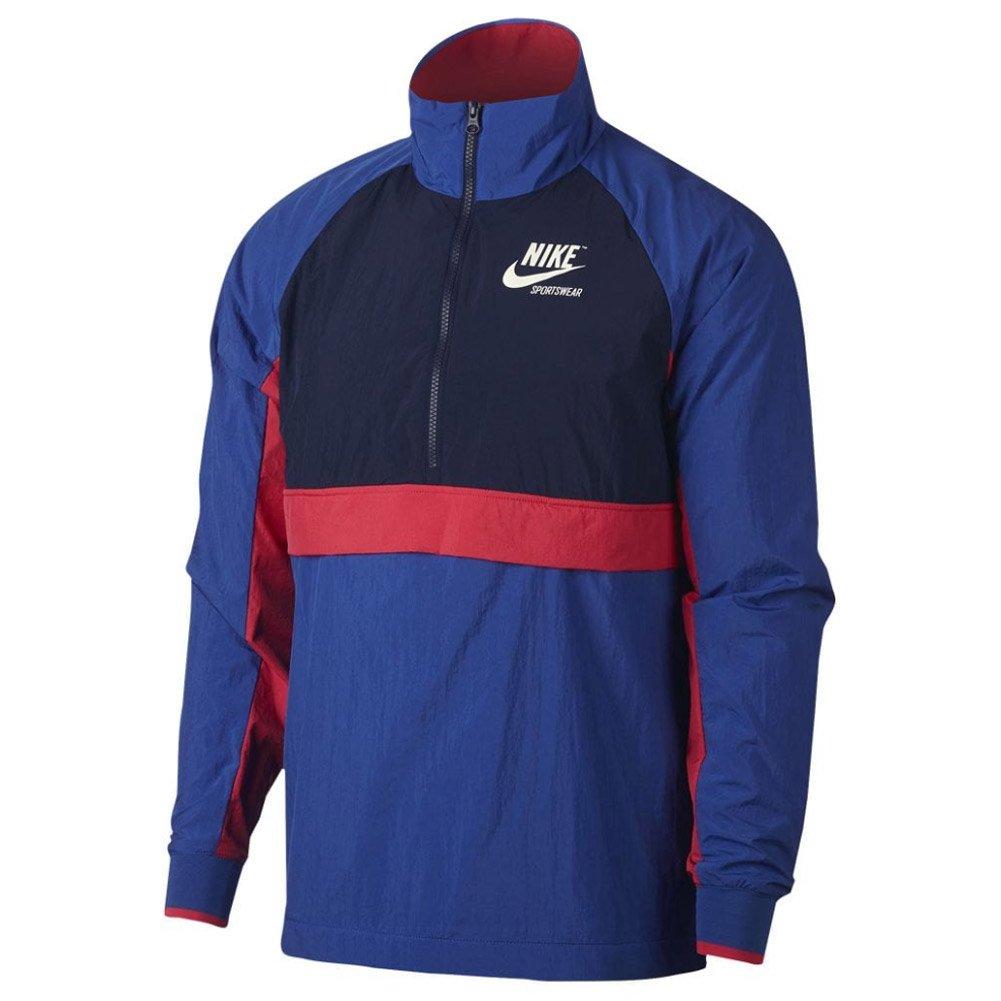 Nike Sportswear Half-Zip Archive Men's Jacket (Game Royal/Binary Blue/Sail/Sail, X-Large)