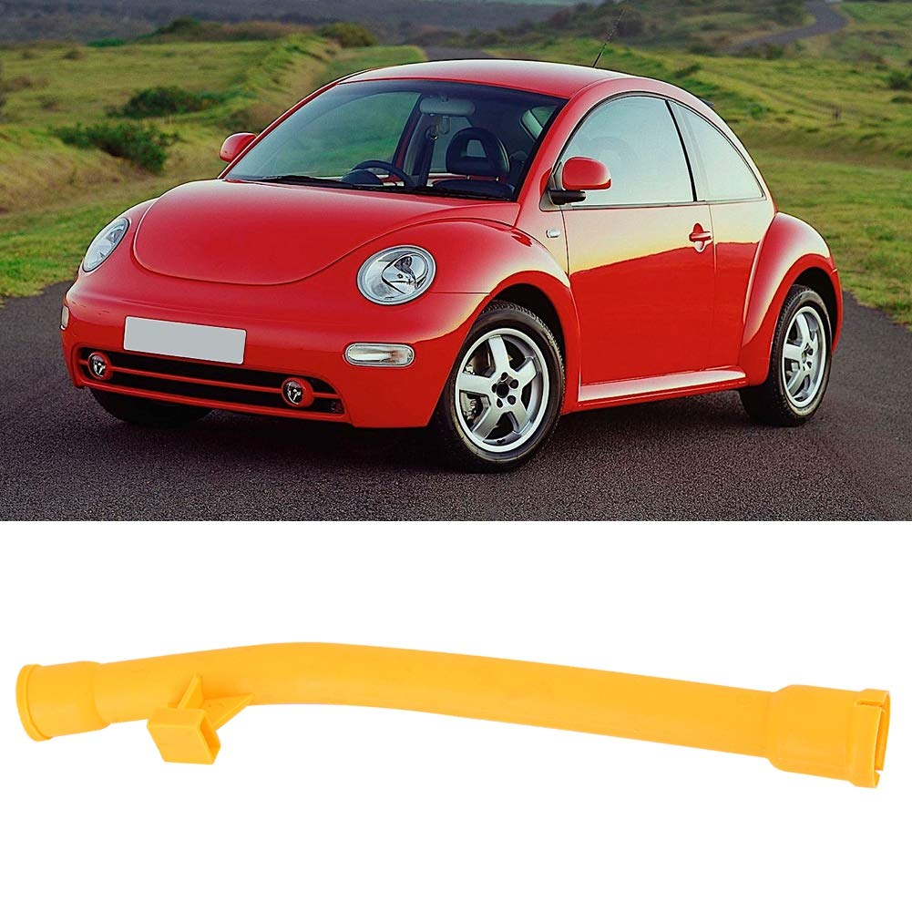 Hlyjoon Oil Dipstick Funnel Sleeve Tube Engine Oil Dipstick Car Engine Oil Dipstick Fit for TT Beetle 2000 2001 2002 2003 2004 2005 2006