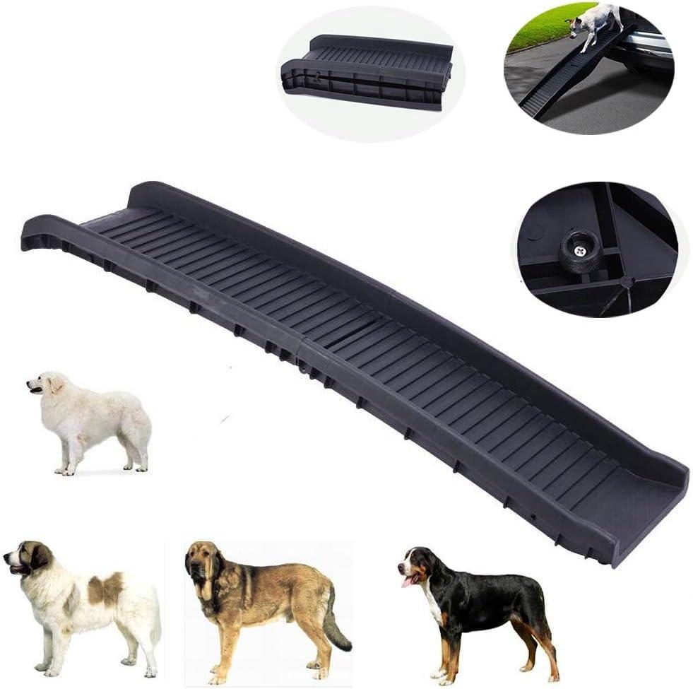 NBMNM Rampa De Coche De Mascotas Plástico Deslizamiento De Pendiente Plegable Escalera Especial para Coche Mascota Dedicado Diseño De Perro Grande: Amazon.es: Deportes y aire libre