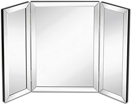 mirror ideas modern tri frame fold vanity good