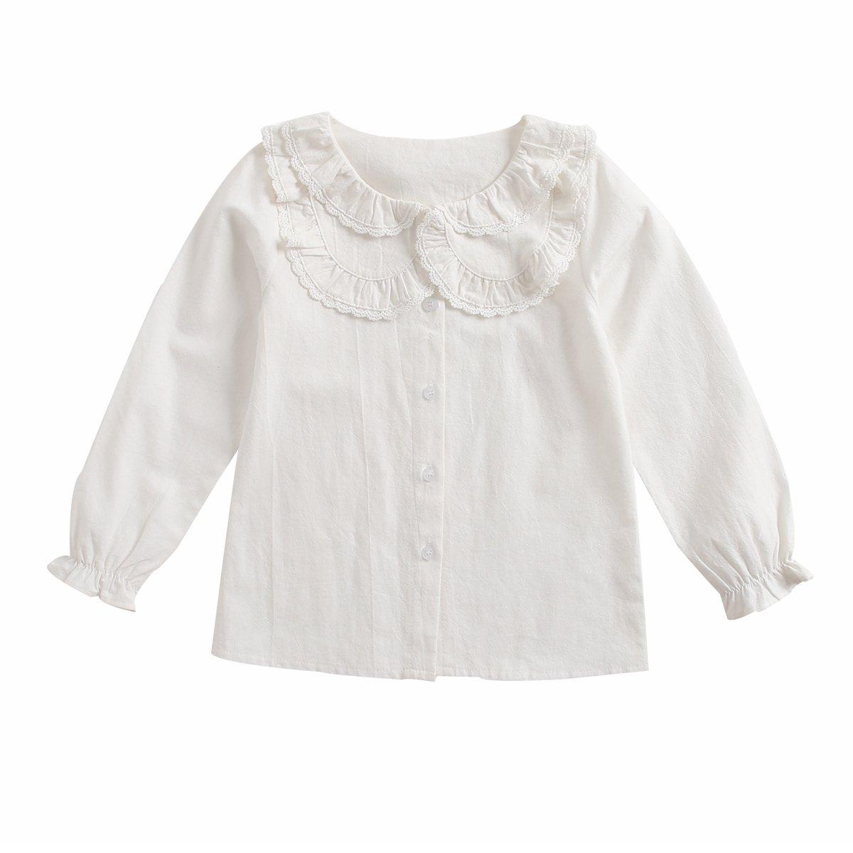 Sanlutoz Pizzo Camicie da Ragazza Principessa Bambini Abbigliamento Moda Bambini Vestiti