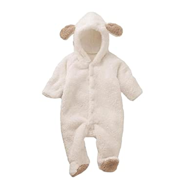 695c6f1ec424 Amazon.com  Cuidress Baby Coverall Animal Style Thick Warm Fall and ...