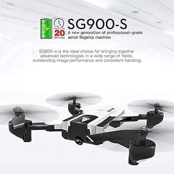 WOSOSYEYO 1080P Sg900-S HD Cámara RC Helicóptero Carreras ...
