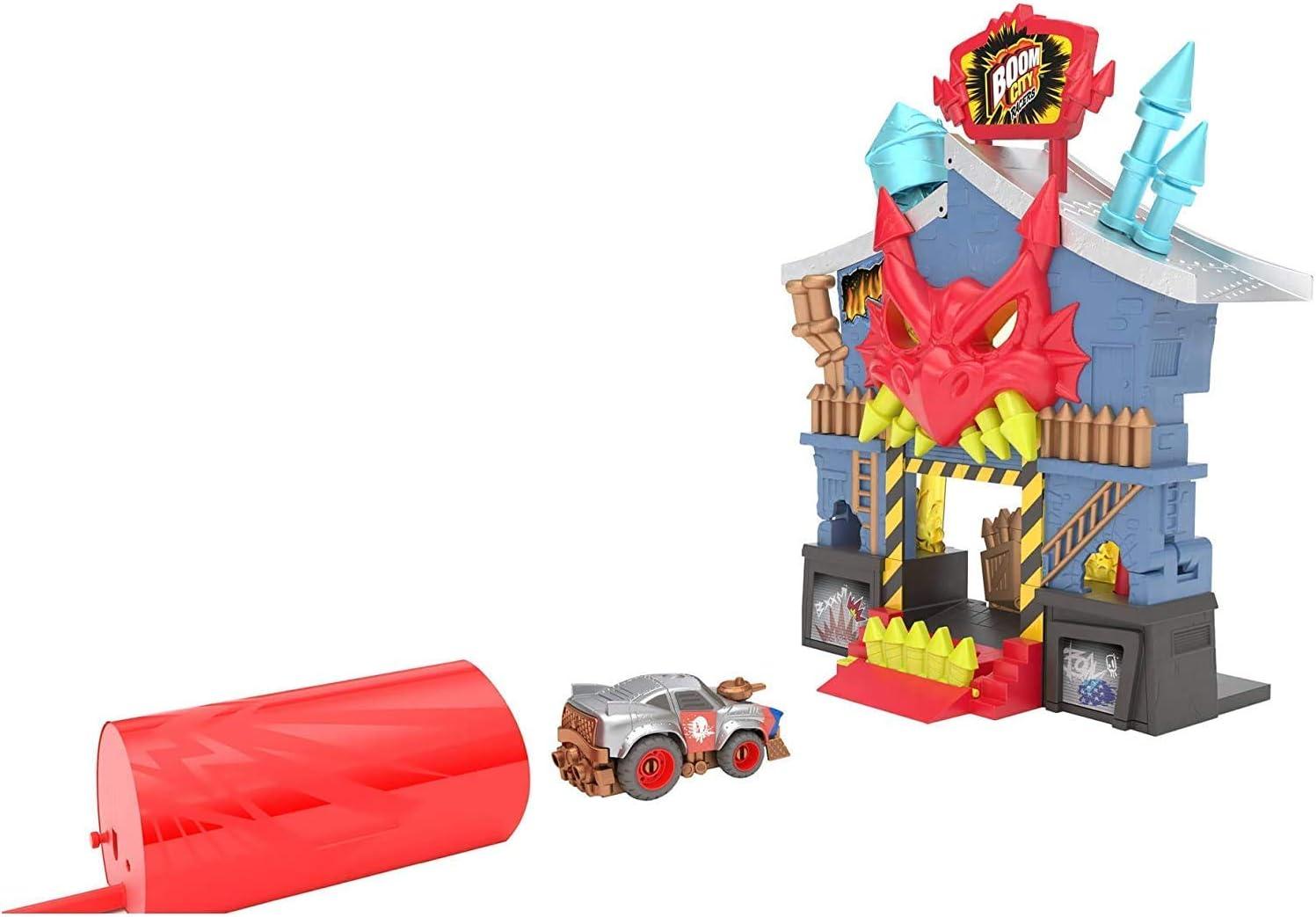 Boom City Racers - Infierno Explosivo, set de juego, incluye 1 coche (Famosa BMC02000)