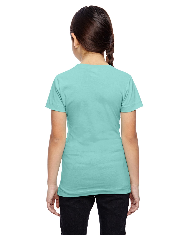 LAT Girls' Fine Jersey T-Shirt, Medium, CHILL