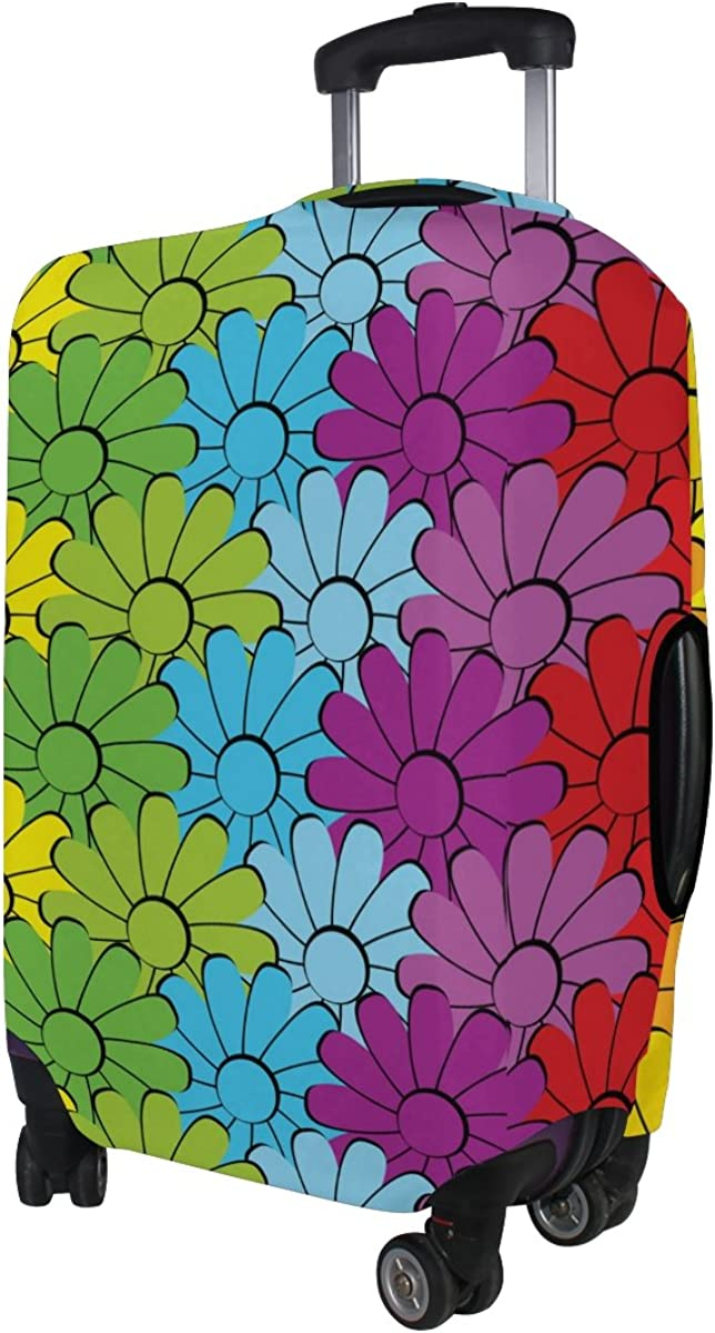 LAVOVO Flowers Rainbows Luggage Cover Suitcase Protector Carry On Covers