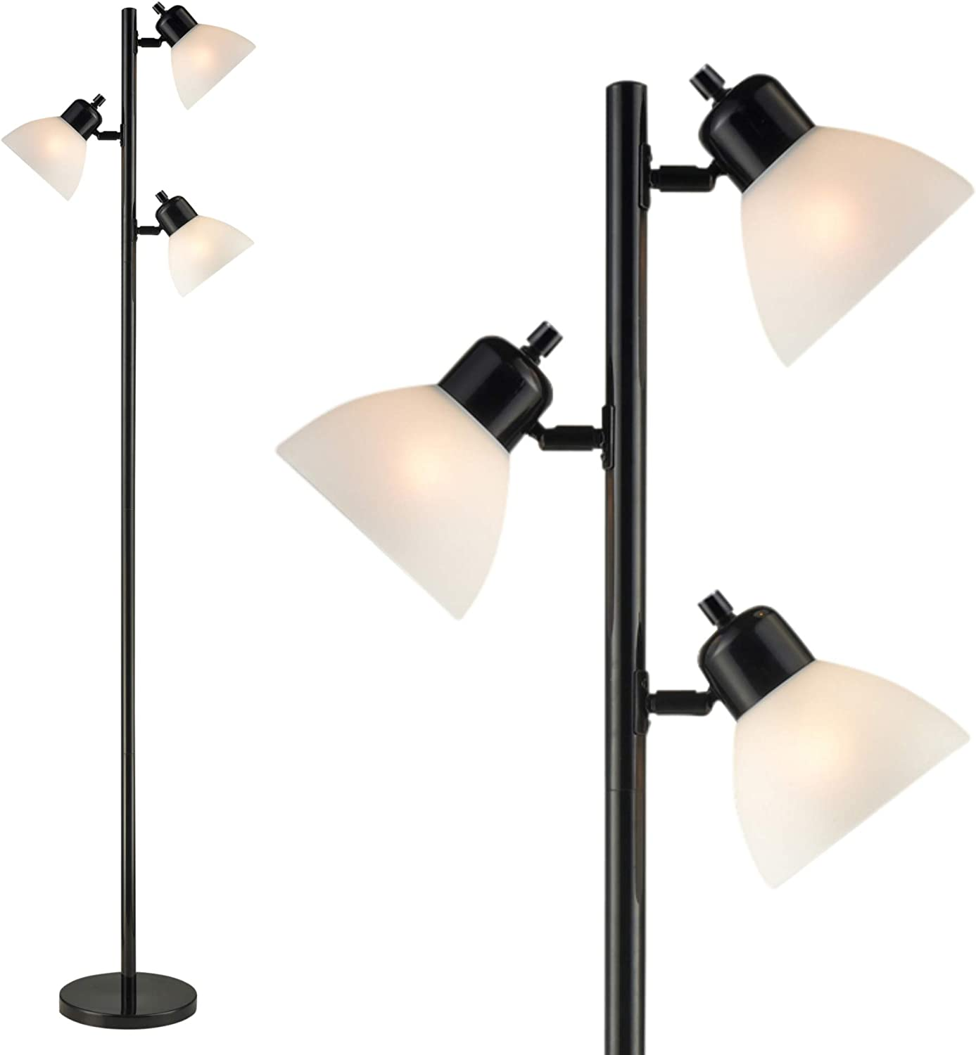 Dorm 17 Light Floor Lamp by Lightaccents - Tree Style Standing Pole Lamp  with Adjustable Lights – Floor Standing Pole Light – Tall Lamp Torchiere -