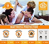 Eastern King Bed Mattress Protector - 100% Waterproof Cotton Touch - Hypoallergenic (Eastern King)