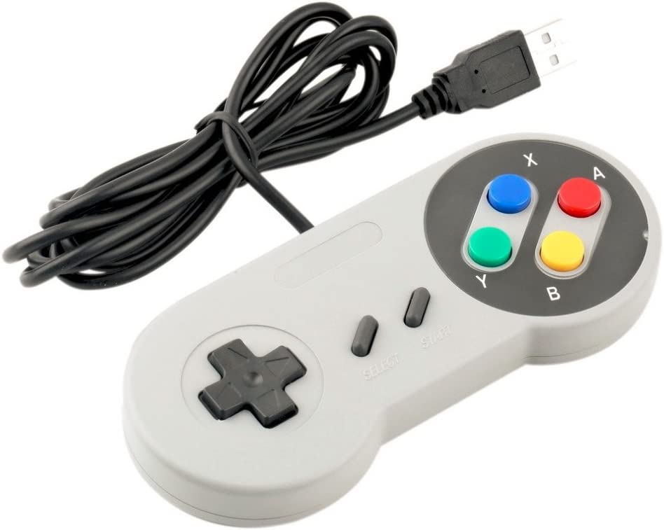 Amazon com: SNES Retro USB Super Nintendo Controller for Windows PC