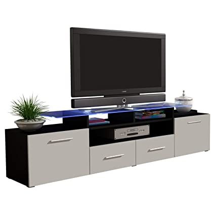 Concept Muebles Enea Grand With Top Glass Shelf Tv Stand   High Gloss Tv  Cabinet/