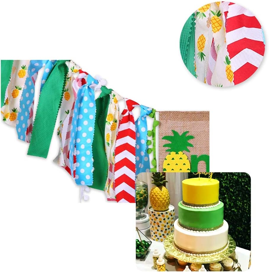 1st Birthday Decorations Set Summer Baby Pineapple Highchair Banner Balloons Wall Happy Birthday Banner Party Supplies Favors For Baby Shower