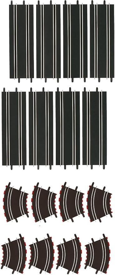 Carrera color Negro escala 1:43 Curva 1//90/° 2 piezas 20061603