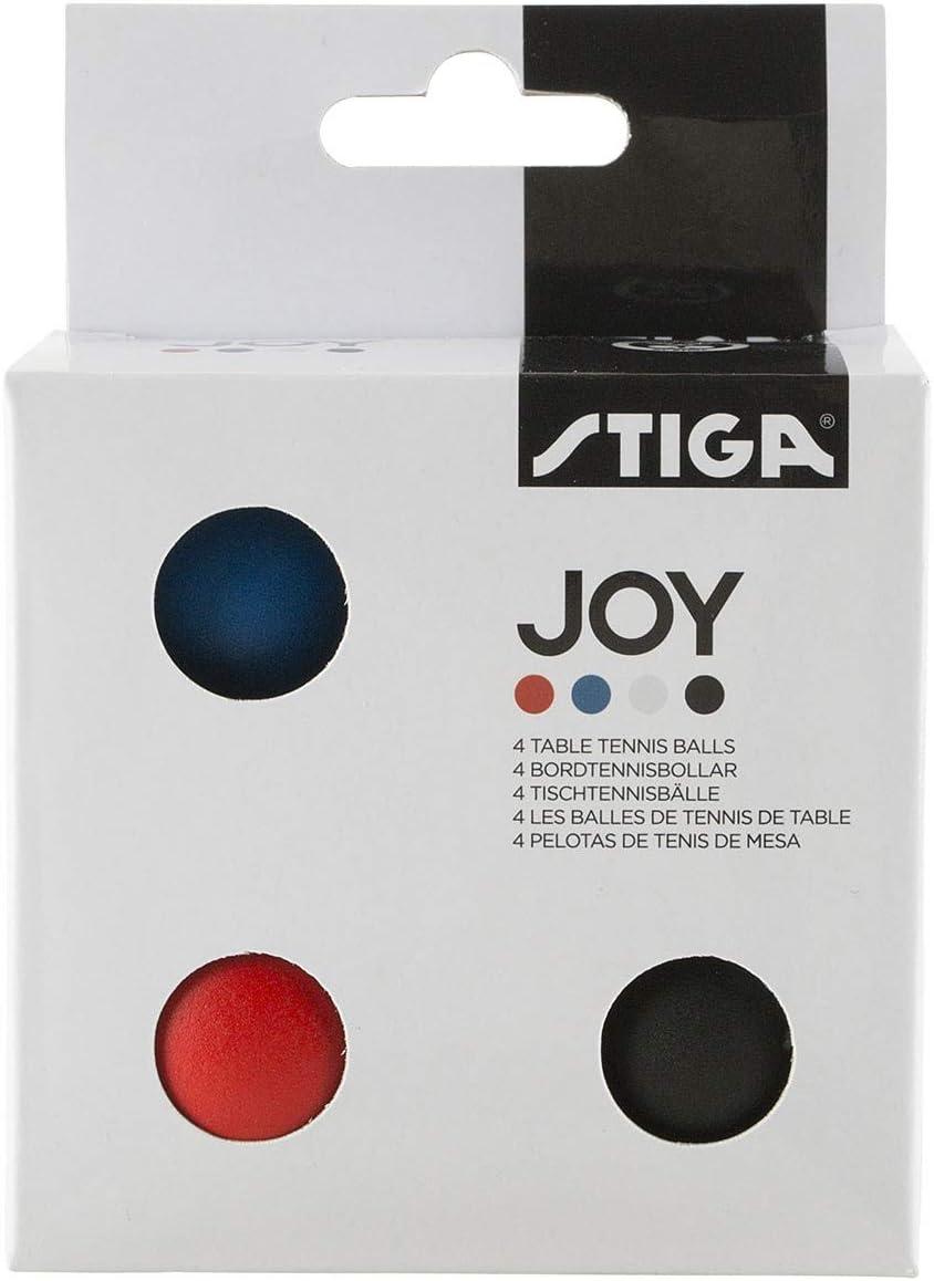 Stiga–4pelotas colores Joy de ping pong tenis de mesa