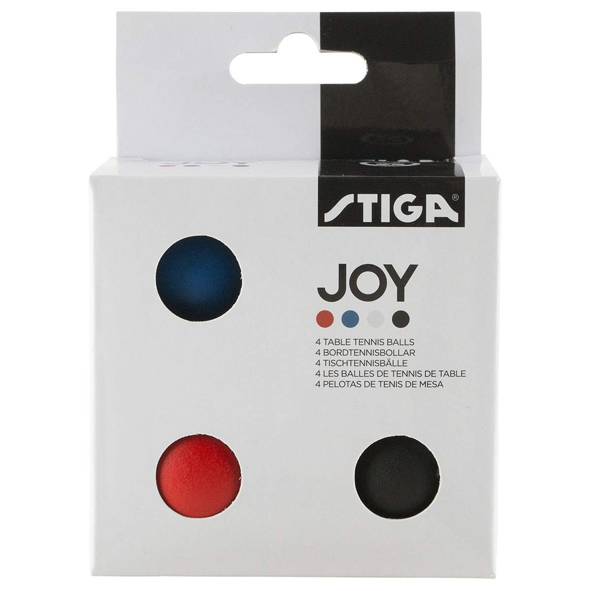 Stiga - 4 Balles Couleurs Joy De Ping Pong Tennis De Table