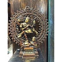 Hindu Shiva Nataraja Dancing Statue Natraj Carved Hindu God Figurine 17inch