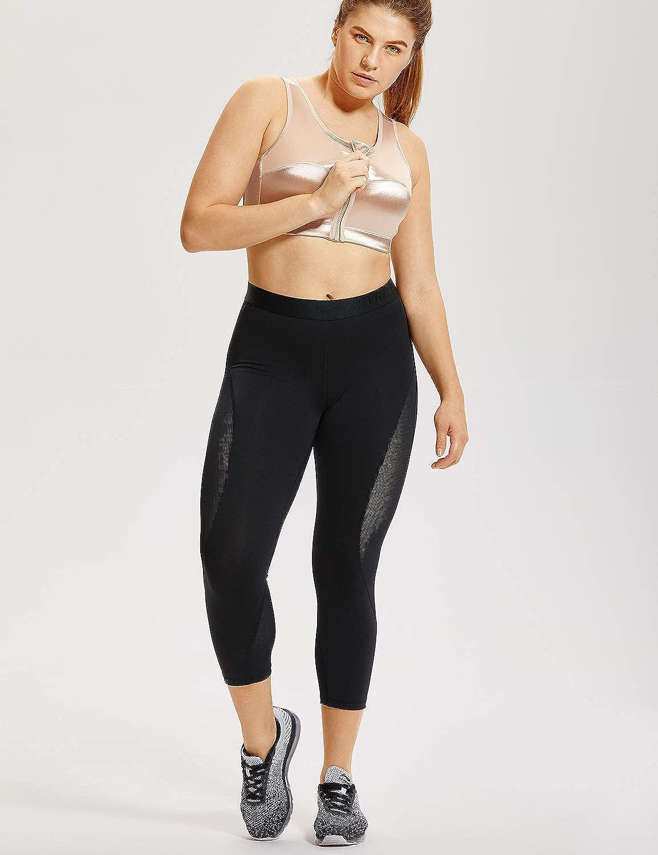 Delimira Femme Soutien-Gorge de Sport Grande Taille Embo/îtant sans Armature