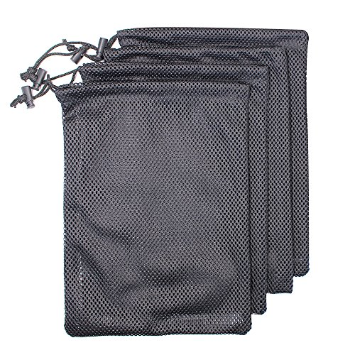 (MoMaek Set of 4 Nylon Mesh Storage Ditty Bag Stuff Sack for Travel & Outdoor Activity)