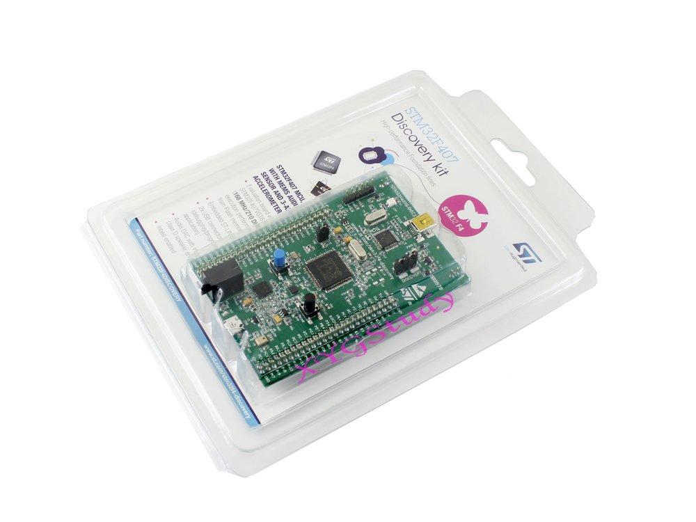STM32F4DISCOVERY STM32F407G-DISC1 ST STM32 STM32F4 STM32F407 MCU Discovery ARM Cortex-M4 Development Board kit embedded ST-LINK/V2-A debugger @XYG