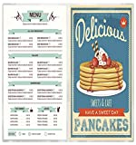 24 Menu Covers 6'' Wide x 9.5'' Tall • 100% USA-MADE Commercial Quality • BookletStyle SideOpen TwoPocket FourView • All Clear Vinyl #MCM-ACV-200-6X9.5. SEE MORE: Type MenuCoverMan in Amazon search.