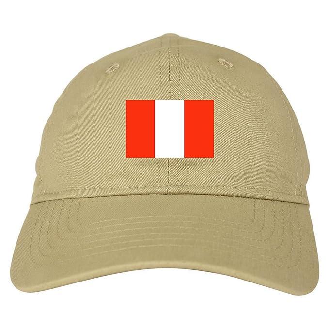 7aad397c1 Amazon.com: Peru Flag Country Chest Dad Hat Baseball Cap Beige: Clothing