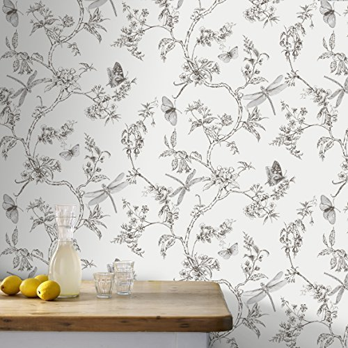 (Nature Trail White Mica Wallpaper by Graham & Brown)