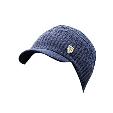 Sombrero de Punto de Lana para Hombre, Moda Casual Gorras de ...
