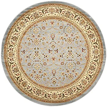 Safavieh Lyndhurst Collection LNH312B Traditional Oriental Light Blue and Ivory Round Area Rug (4 Diameter)