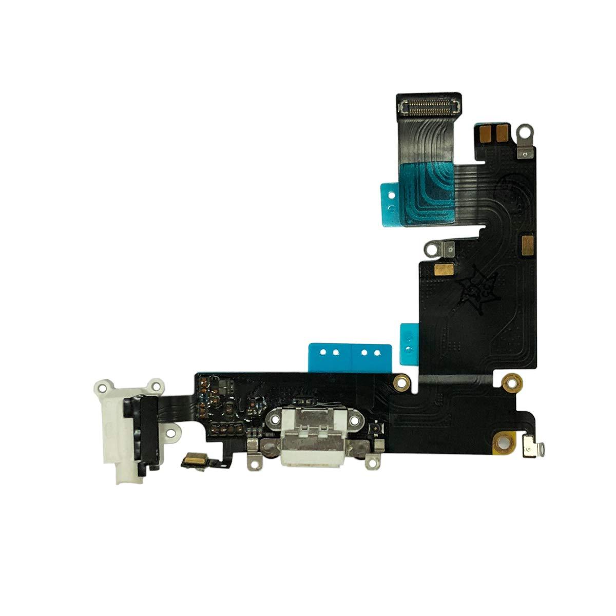 Puerto De Carga Para iPhone 6 Plus 5.5 White E-yiiviil
