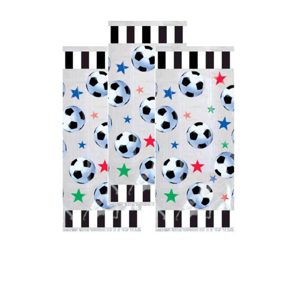 24 Soccer Pencils 72 Soccer Tattoos 24 Soccer Party Favors for 24 Soccer Wrist Bands 24 Clear Bag Total 145 Pieces Soccer Theme Gift Bags and Happy Birthday Sticker