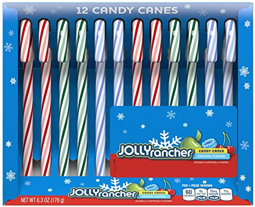 (Jolly Rancher Candy Canes - Original Flavors - 12 ct )